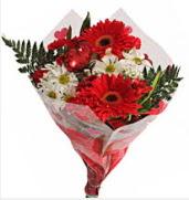 Mevsim çiçeklerinden görsel buket  Ağrı çiçekçiler