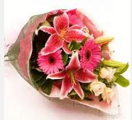 1 dal kazablanka ve mevsim çiçekleri  Ağrı internetten çiçek siparişi