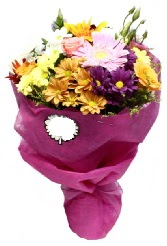 1 demet karışık görsel buket  Ağrı anneler günü çiçek yolla