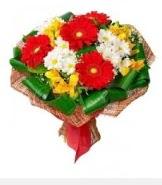 1 demet karışık buket  Ağrı hediye sevgilime hediye çiçek
