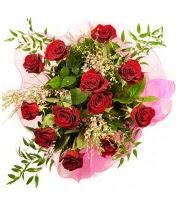 12 adet kırmızı gül buketi  Ağrı 14 şubat sevgililer günü çiçek