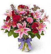 Vazo içerisinde karışık mevsim çiçeği  Ağrı çiçek siparişi sitesi