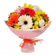 Karışık mevsim buketi Mevsimsel çiçek  Ağrı internetten çiçek siparişi