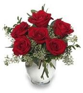 Vazo içerisinde 5 adet kırmızı gül  Ağrı çiçekçi mağazası
