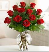 Vazo içerisinde 12 kırmızı gül  Ağrı çiçek satışı