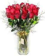 27 adet vazo içerisinde kırmızı gül  Ağrı İnternetten çiçek siparişi