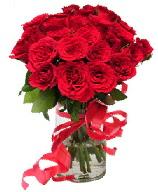 21 adet vazo içerisinde kırmızı gül  Ağrı çiçek satışı