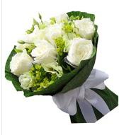 9 adet beyaz gül buketi  Ağrı çiçek siparişi sitesi