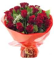 12 adet görsel bir buket tanzimi  Ağrı çiçek siparişi vermek