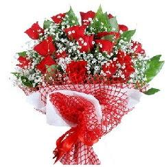 11 kırmızı gülden buket  Ağrı 14 şubat sevgililer günü çiçek
