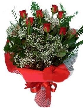 7 kırmızı gül buketi  Ağrı çiçek servisi , çiçekçi adresleri