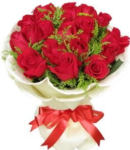 19 adet kırmızı gülden buket tanzimi  Ağrı çiçek servisi , çiçekçi adresleri