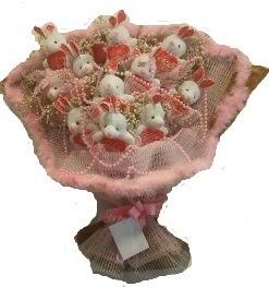 12 adet tavşan buketi  Ağrı çiçek mağazası , çiçekçi adresleri