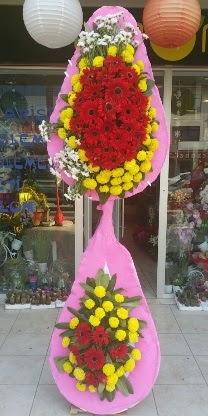 Çift katlı düğün nikah açılış çiçek modeli  Ağrı çiçekçiler