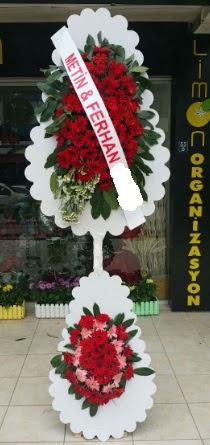 Çift katlı düğün nikah çiçeği modeli  Ağrı çiçek siparişi sitesi