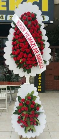 Çift katlı düğün nikah çiçeği modeli  Ağrı hediye çiçek yolla