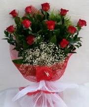 11 adet kırmızı gülden görsel çiçek  Ağrı çiçek satışı