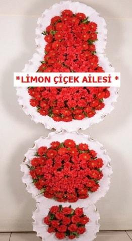 3 katlı kırmızı düğün açılış çiçeği  Ağrı çiçek gönderme