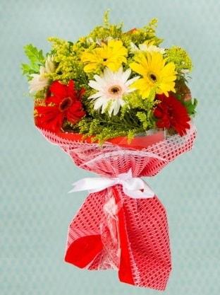 Karışık Gelbera Buketi  Ağrı çiçek siparişi sitesi