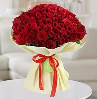 101 adet kırmızı gül buketi koca demet  Ağrı internetten çiçek siparişi