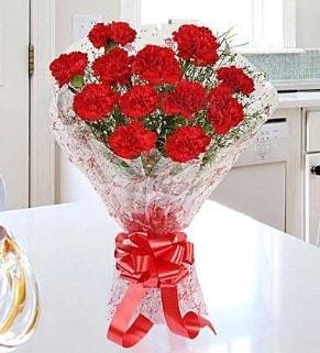 12 adet kırmızı karanfil buketi  Ağrı İnternetten çiçek siparişi