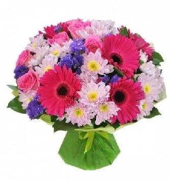 Karışık mevsim buketi mevsimsel buket  Ağrı çiçek satışı