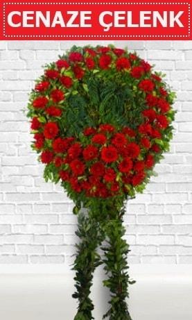 Kırmızı Çelenk Cenaze çiçeği  Ağrı İnternetten çiçek siparişi
