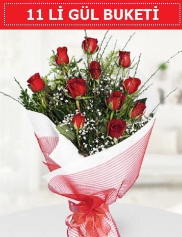11 adet kırmızı gül buketi Aşk budur  Ağrı çiçek gönderme sitemiz güvenlidir