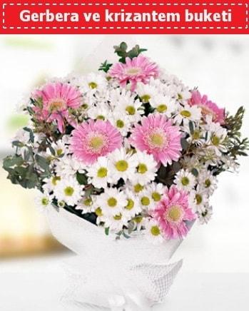 Papatya ve Gerbera Buketi  Ağrı çiçek , çiçekçi , çiçekçilik