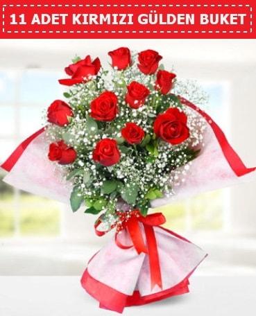 11 Adet Kırmızı Gül Buketi  Ağrı internetten çiçek siparişi