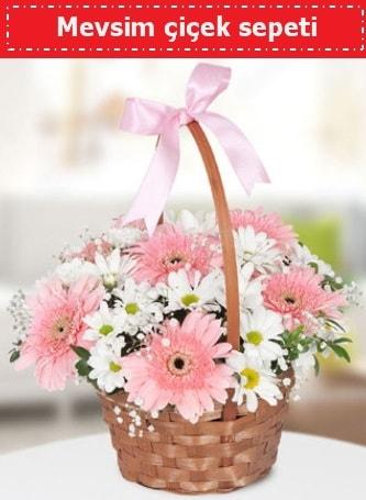 Mevsim kır çiçek sepeti  Ağrı çiçek , çiçekçi , çiçekçilik