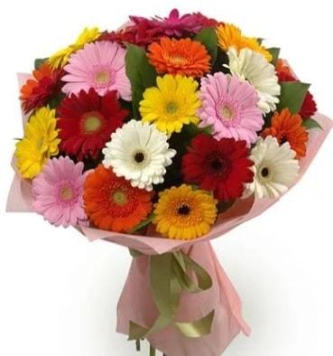 Karışık büyük boy gerbera çiçek buketi  Ağrı çiçek satışı